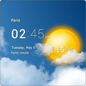 Transparent clock & weather Android