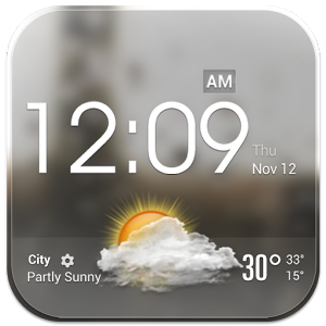 Transparent Glass Clock Widget Android