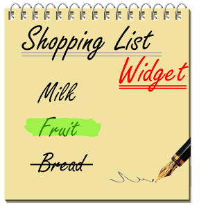Shopping List Widget Android